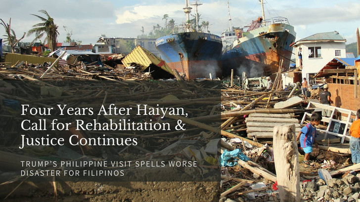 Four Years After Haiyan, Call for Rehabilitation & Justice Continues