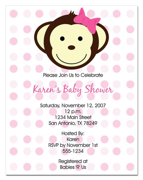 Baby monkey baby shower invitations babyshower4u baby monkey baby shower invitations filmwisefo