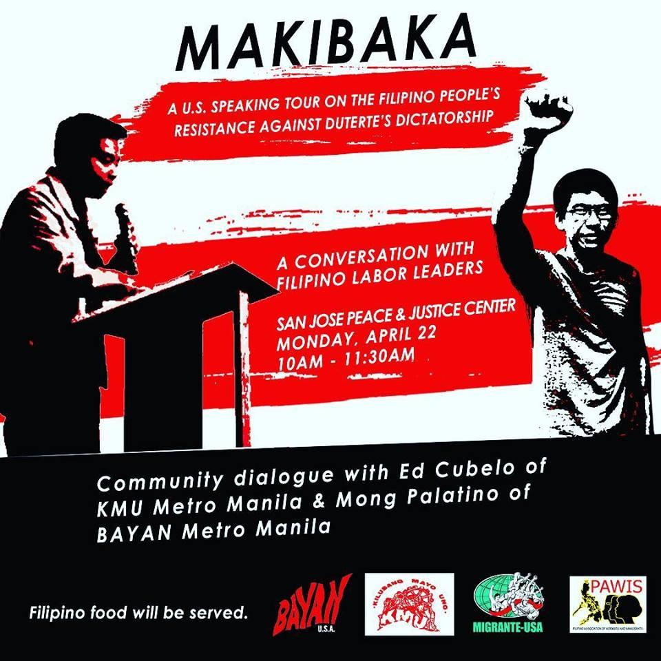 4/22 SAN JOSE: Makibaka: A conversation with Filipino labor leaders