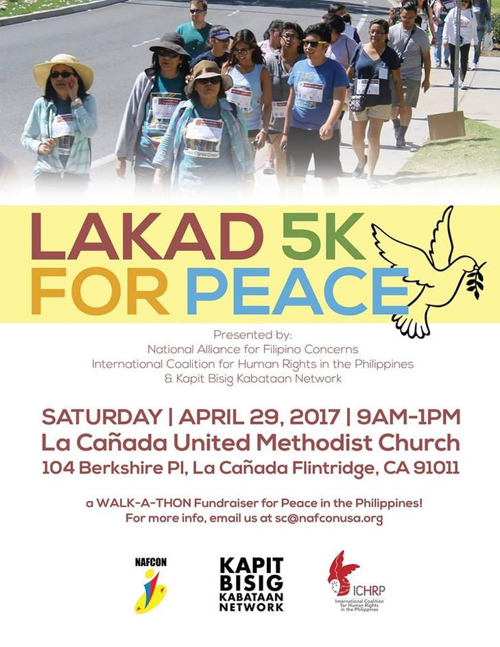 La Canada Flintridge: Lakad 5k for Peace