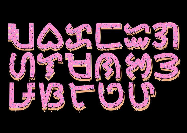 Baybayin Font Donut Style
