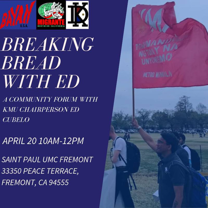 4/20 FREMONT: Breaking Bread with Ed: A Community Forum with Ed Cubelo