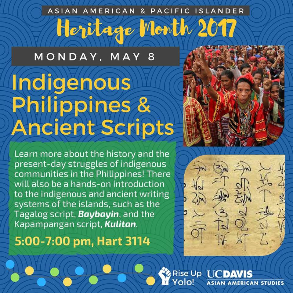 UC Davis: Indigenous Philippines & Ancient Scripts