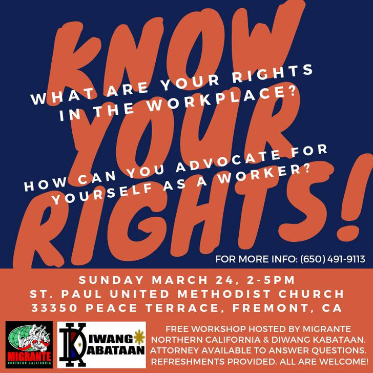 3/24 Diwang Kabataan - Know Your Rights Workshop