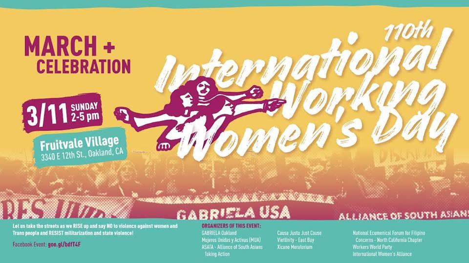 International Working Women's Day MARCH & Celebration 2018