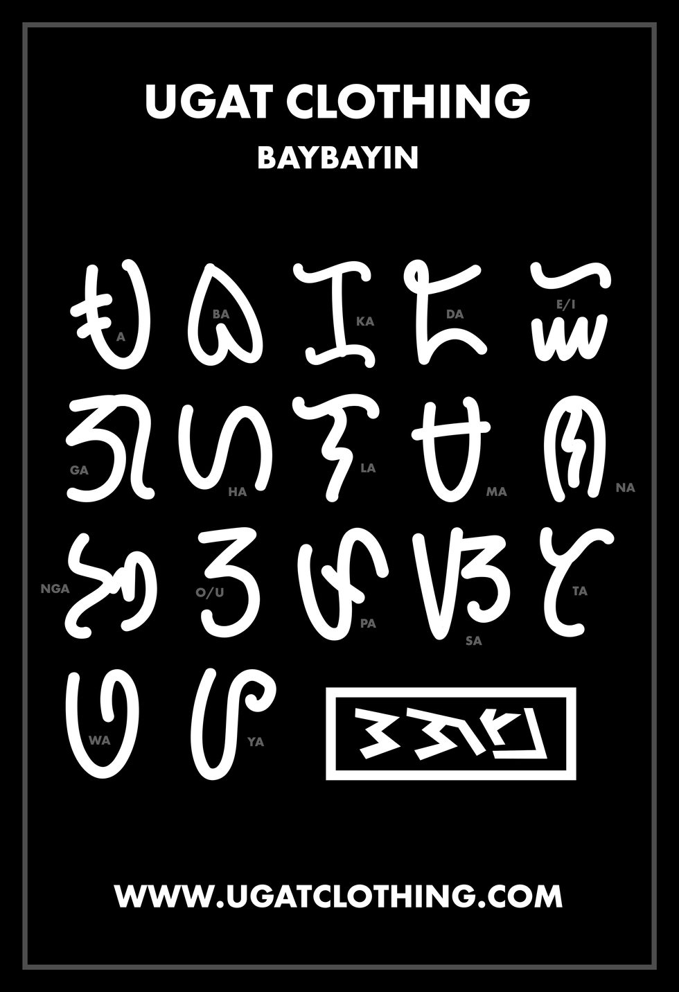 Writing the 17 Characters of the Baybayin.