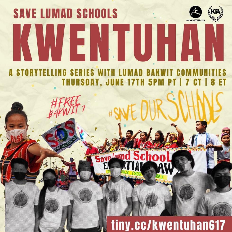 June 17: Save Lumad Schools Kwentuhan