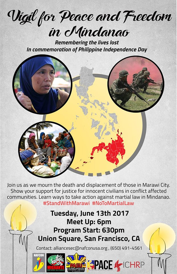 San Francisco: Vigil For Peace And Freedom In Mindanao