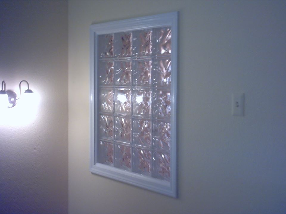 Glass block window.
