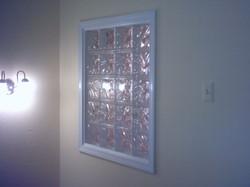 Glass block window.