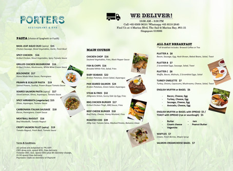 We Deliver! Enjoy good food while you work at home.