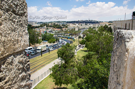 Jerusalem through the Old City Walls