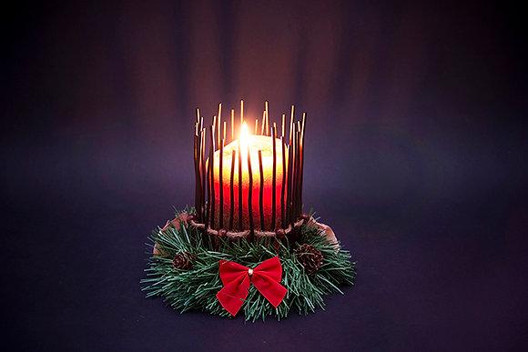 Iron Christmas Candle Holder