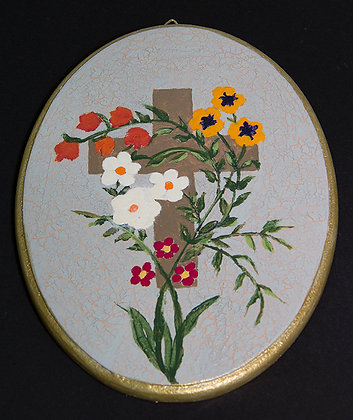 Cross and Flowers