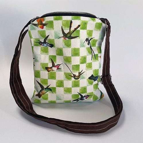 Hummingbird Check Crossbody Bag