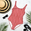 Thumbnail: Groovy Red One-Piece Swimsuit