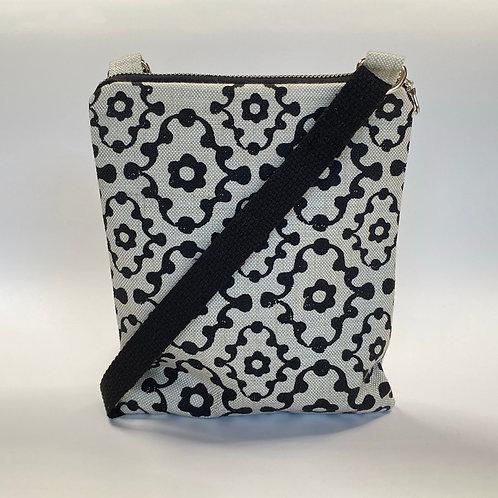 Knobby Black Pattern on Light Blue Crossbody Bag