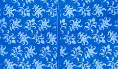 Scattered twigs pattern in blue