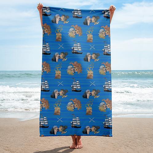 Celebration on Board Beach Towel - Blue