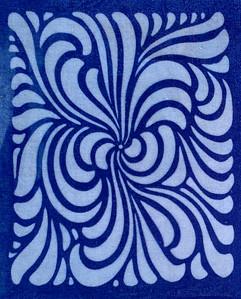 Groovy flower in blue