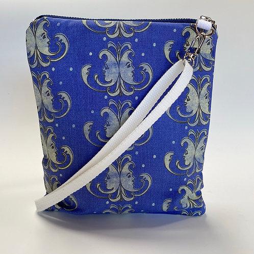 Venetian Moons in Blue Crossbody Bag