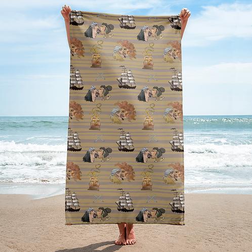 Celebration on Board Beach Towel - Tan