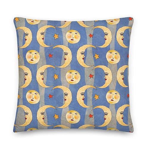 Cara de la Luna Premium Pillow