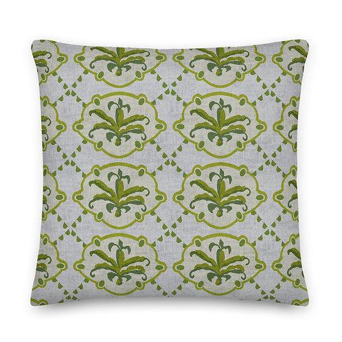 Vintage-style Floral Premium Pillow