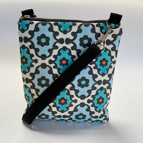 Knobby Pattern in Turquoise Crossbody Bag
