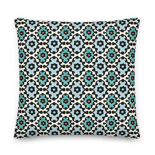 Knobby Block Print Premium Pillow