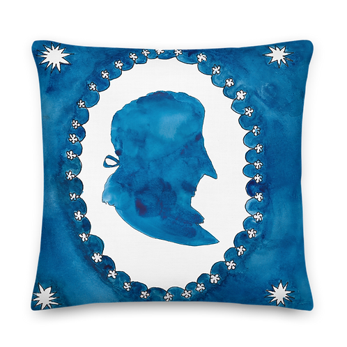 The Blue and the White - Premium Pillow