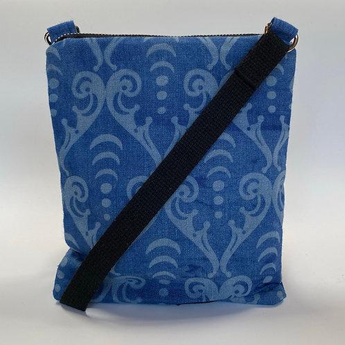Arcana Scroll Crossbody Bag in Blue