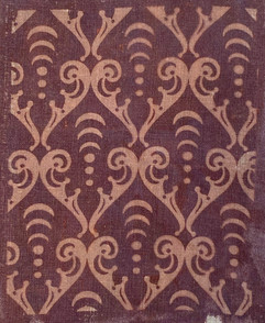 Arcana scroll pattern in sepia