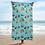 Thumbnail: Celebration on Board Beach Towel - Teal