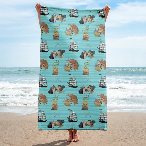 Celebration on Board Beach Towel - Teal