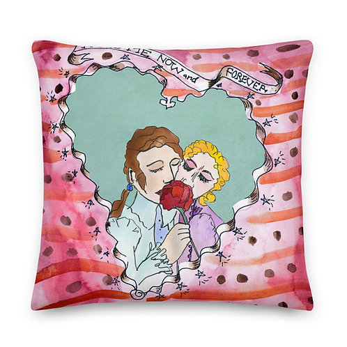 Kiss Me Now and Forever - Premium Pillow