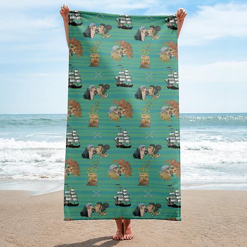 Celebration on Board Beach Towel - Green