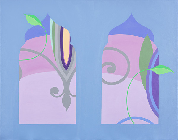 Fleur de Lys (Sunset View through 2 Windows) 22 x 28