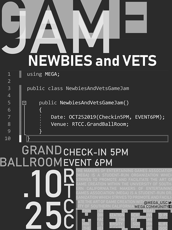 Newbies and Vets Game Jam (P2).