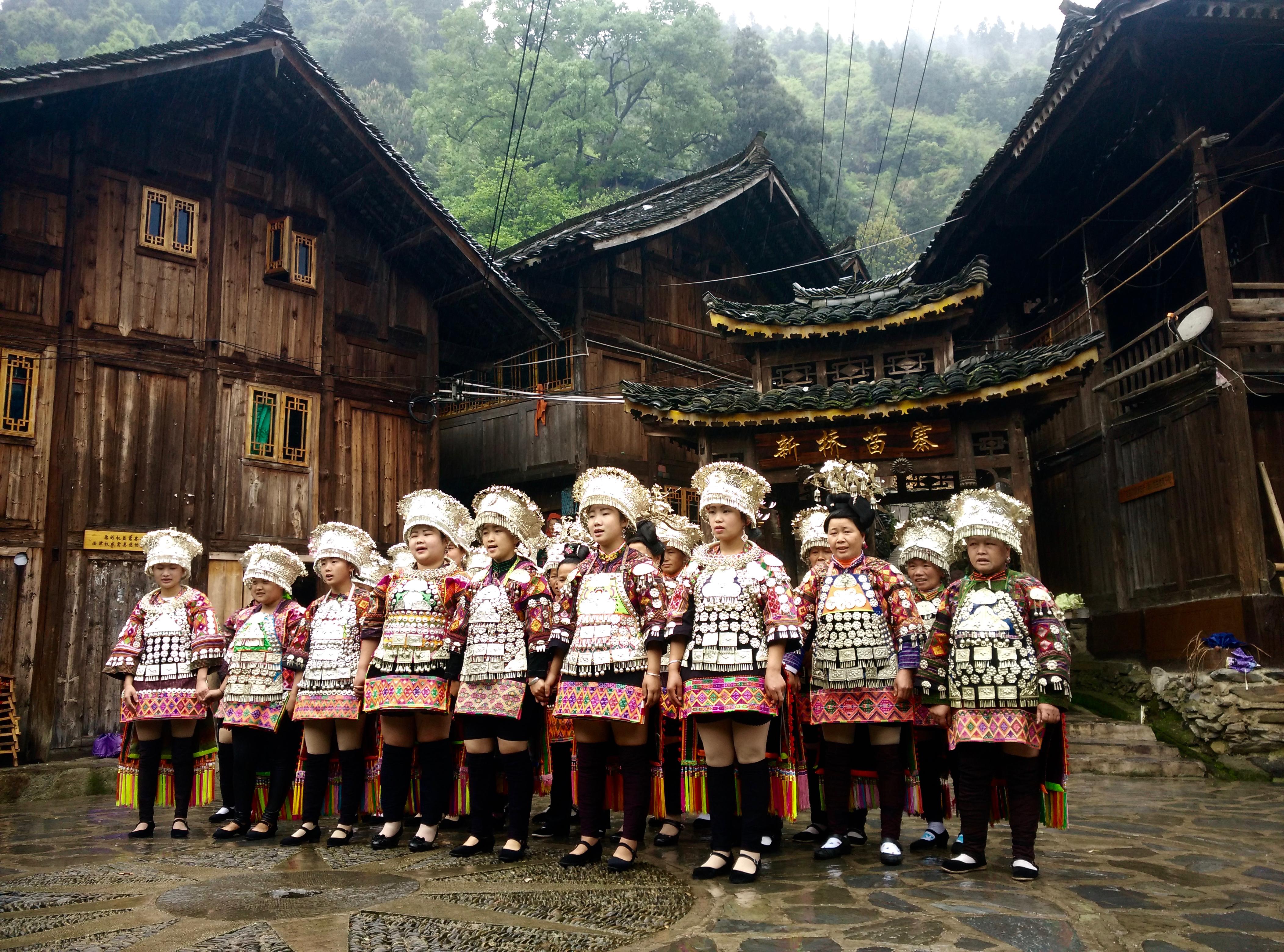 Short Skirt Miao Dancing