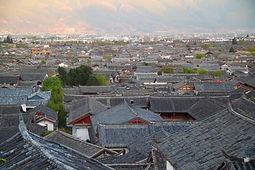מבט מלמעלה על העיר העתיקה של ליג'יאנג, מחוז יונאן