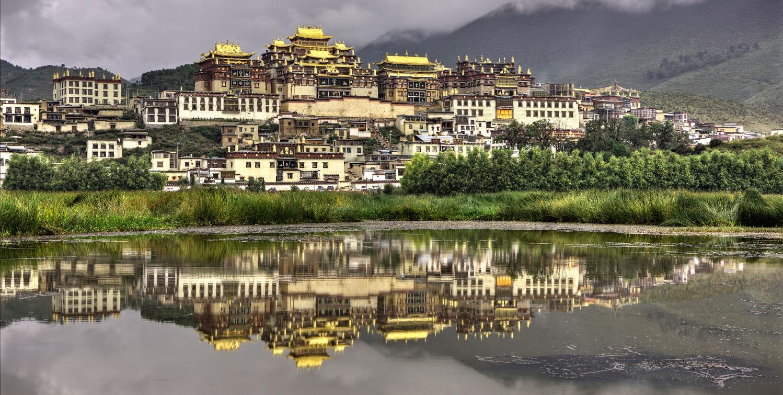 מקדש סומזנלינג, שמגרילה,  יונאן, סין_edited