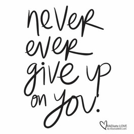 Never ever give up on you