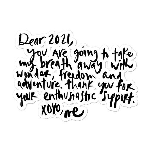 Dear 2021 Sticker