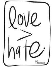 Love > hate