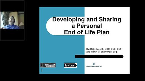 Martin Shenkman and Beth Suereth discuss making a personal end-of-life plan