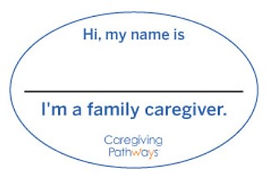 Family caregiver name tag