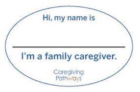Family caregiver name tag