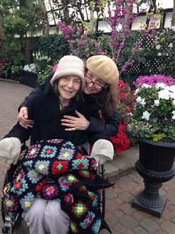 Family caregiver and her mom