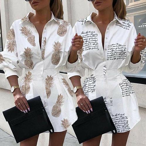 Women Blouse - Long Sleeve Printed Elegant Shirts